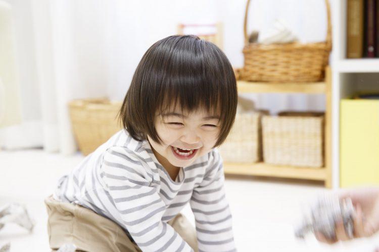 おもちゃ、知育玩具で遊ぶ2歳、3歳児