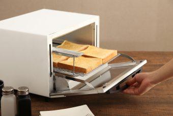 オーブントースター アイリスオーヤマ「スチームオーブントースター SOT-012-W」2