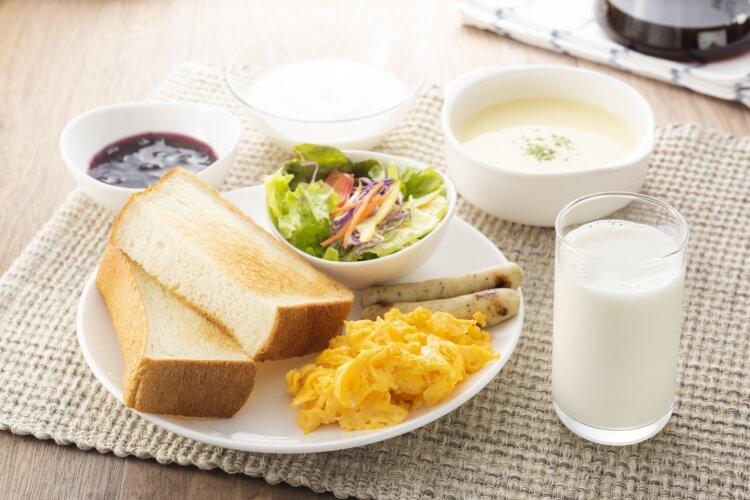 パンなどの朝食