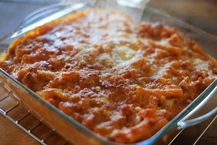 コンベクションオーブンで作ったチーズリゾット