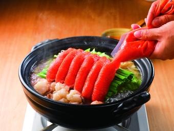 かねふく「明太もつ鍋」2