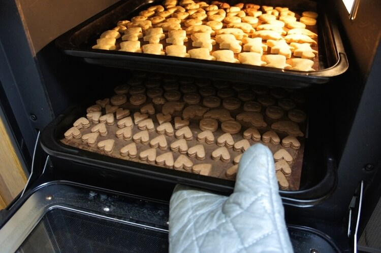 コンベクションオーブンでつくったクッキー