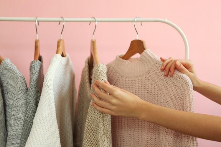 毛玉のできた衣類