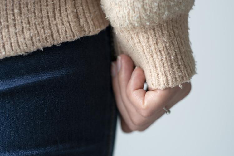 セーターにできた毛玉