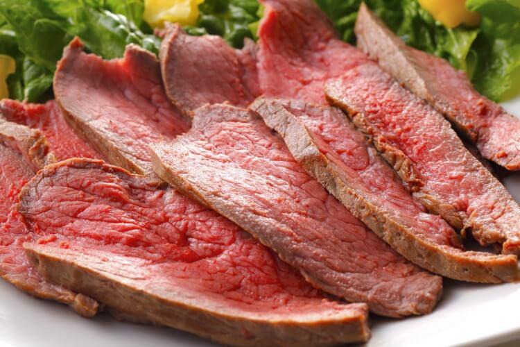 低温調理器で調理後の肉